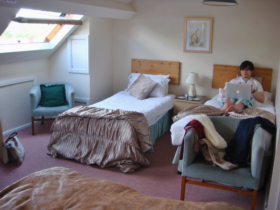 Relatively comfortable room to have 4 of us staying in