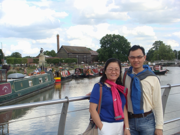 "Stratford Upon Avon -  ""Avon"" literally means river. It is based on the word ""afon"" in Welsh, with the same meaning"