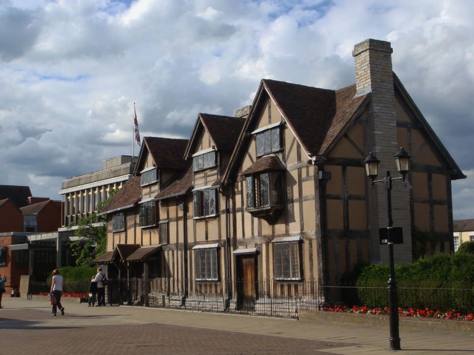 The old Shakespeare's Birthplace is now a library -  The more modern building next to it is where all Shakespeare's information and multimedia presentations are