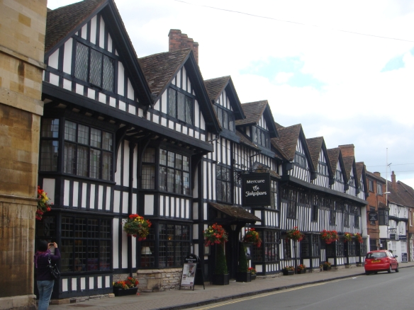 This is a typical tudor style buildings in Stratford Upon Avon
