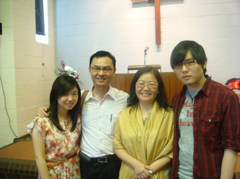 So happy to take this picture with my beloved children inside MCCC