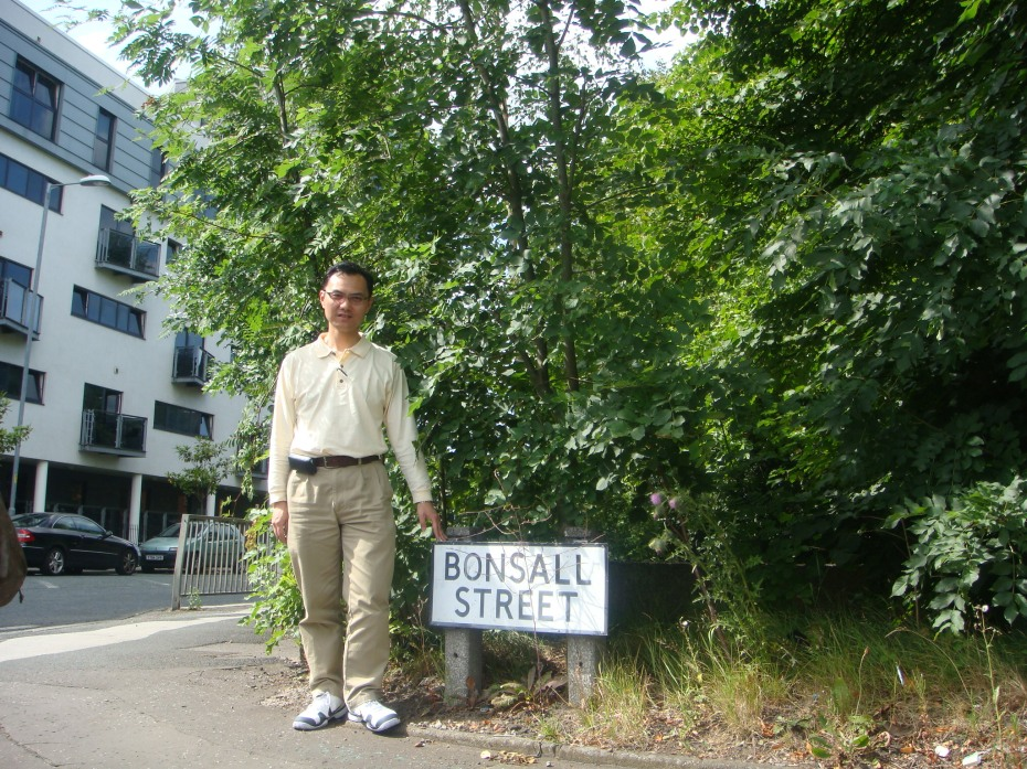 Bonsall Street, Hulme - used to have all the cheap council flats - a place where I lived for 5 years in the 80's
